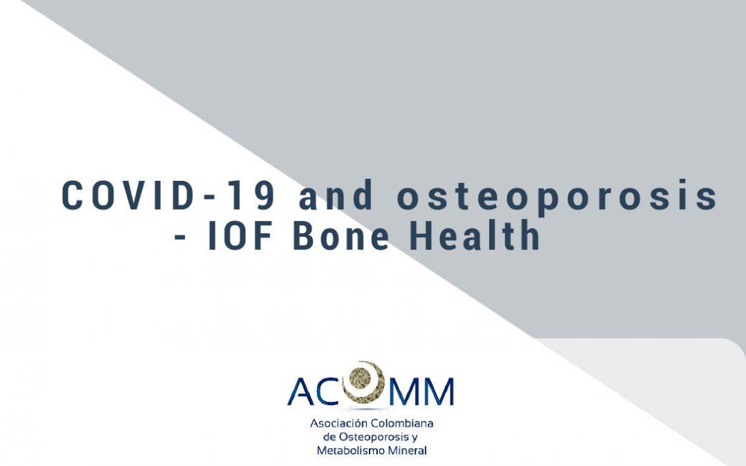 COVID-19 y osteoporosis Mensaje de la IOF para nuestros pacientes 25 de marzo de 2020